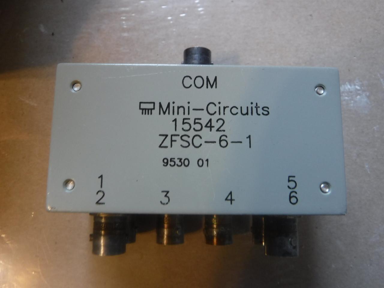 Mini Circuits ZFSC-6-1 Power Divider 6 Way , BNC 1-175MHz