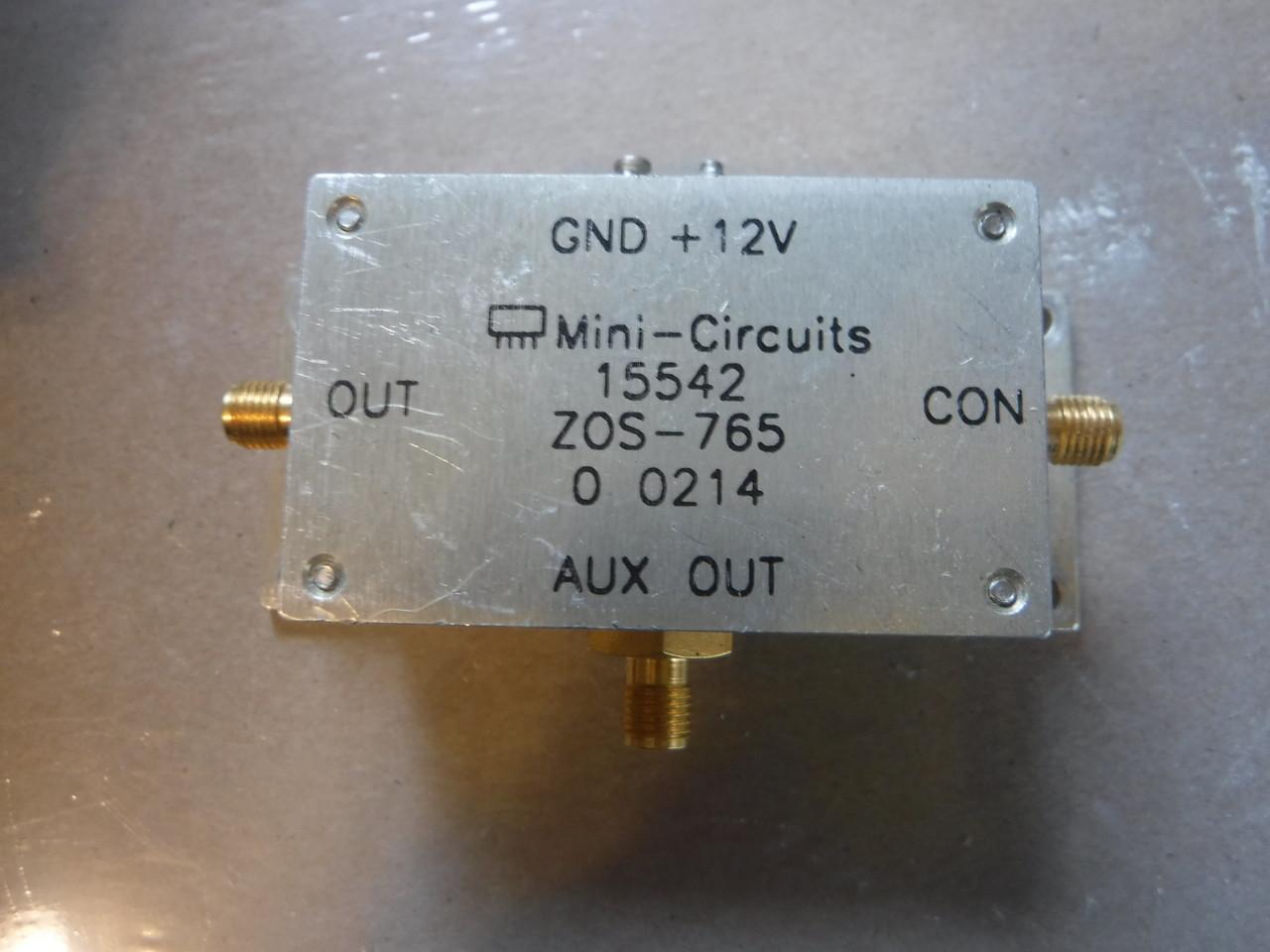 Mini Circuits ZOS-765 VCO 485-765MHz