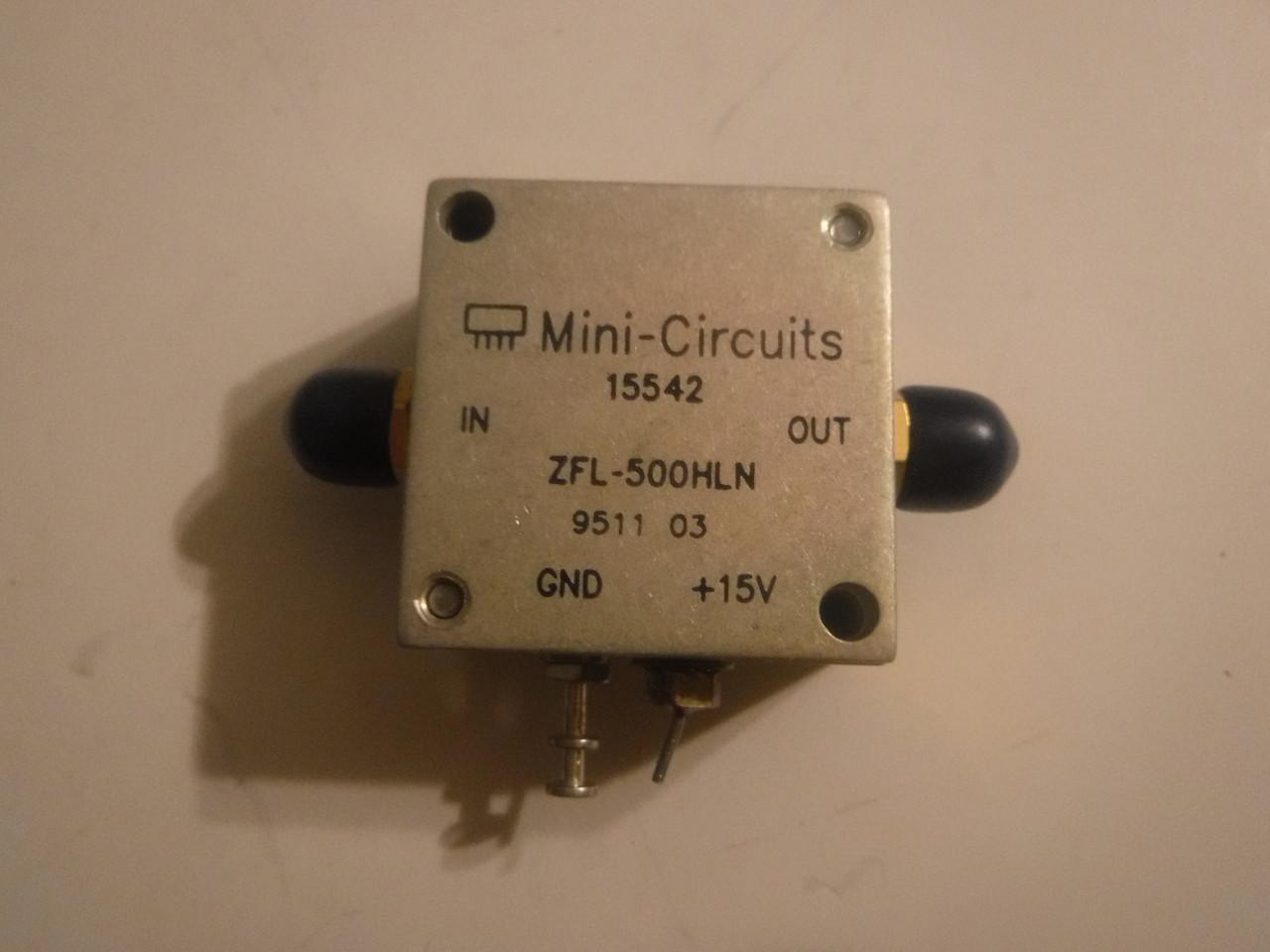 Mini Circuits ZFL-500HLN Amplifier , 10-500MHz SMA Connectors