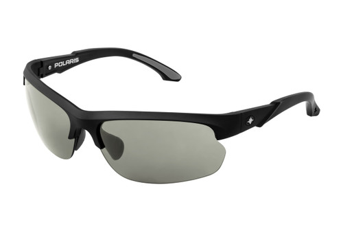 POLARIS LICENSED SUNGLASSES- OUTLAW MATTE BLACK FRAME - GREY LENS