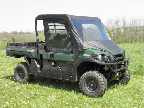 Kawasaki Pro FX Full Cab Enclosure with a Vinyl Windshield