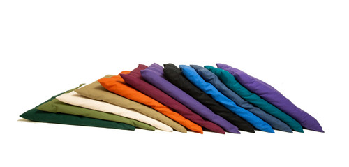 Left to Right Colors: Forest Green (silk), Fern, Natural, Sage, Sweet Potato, Burgundy, Purple, Black, Blue, Light Navy, Teal (silk), Indigo (silk)