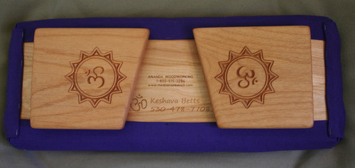 Custom engraving with two carved legs.