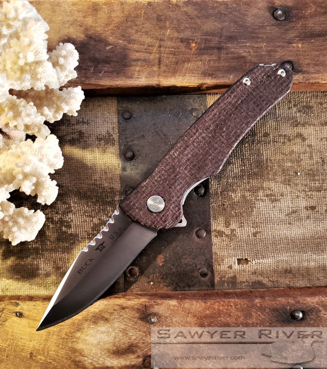 BUCK SPRINT PRO WITH BURLAP MICARTA AND S30V BLADE