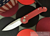 Microtech L.U.D.T. - Elmax Satin Blade - Red Handle