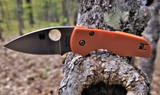 Spyderco Lil' Native - Sprint Run - CPM REX 45 Satin Blade - Burnt Orange G10 Handle