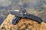 Gerber 06 Auto - Black G-10 Handle - Black Tanto CPM-S30V Blade