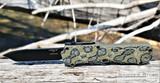 Hogue Knives Compound OTF - Black Tanto CPM-S30V Blade - G-Mascus Green G10 Handle