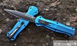 Benchmade Infidel OTF - Black CPM-S30V D/E Blade - Blue Aluminum Handle