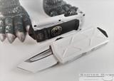 Microtech Exocet T/E Stormtrooper Signature Series - White Tanto Blade - White Aluminum Handle