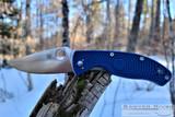 Spyderco Tenacious - Satin CPM-S35VN Blade - Dark Blue FRN Handle