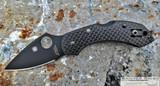 Spyderco Dragonfly - Black CPM-CRUWEAR Blade - Black Carbon Fiber Handle