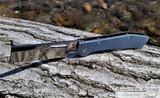 Gerber FlatIron - Satin D2 Cleaver Blade - Blue Micarta Handle