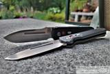 Pro-Tech Prometheus Design Werx Auto Invictus - Stonewash 154CM Blade - Black Aluminum Handle