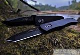 Pro-Tech Emerson CQC7 Auto - Black 154CM Tanto Blade - Black Aluminum Handle