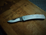 Buck Alumni - Gray Aluminum Handle - Stonewash 420HC Blade - Lockback