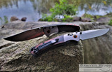 Benchmade Mini Crooked River - S30V Satin Blade - Stabilized Wood Handle
