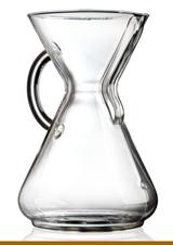 CHEMEX 10 CUP GLASS HANDLE COFFEE MAKER
