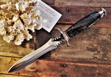 Buck Conifer Dagger - Limited Edition - Fixed 420HC Mirrored Blade - Black & Brown Resin Coated Pinecone Handle