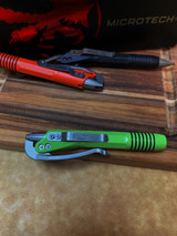 Microtech Siphon II Pen - Lime Green - Stainless Steel