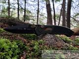 Buck Impact Auto - Black Cerakote CPM-S30V Blade - OD Green Aluminum Handle