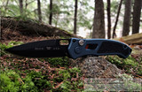 Buck Impact Auto - Black Cerakote CPM-S30V Blade - Blue Aluminum Handle