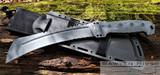 Buck - Talon - Sniper Gray Cerakote and Black G-10 Handles - 5160 Blade Steel