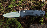 Benchmade Mini Barrage - Satin Blade - Black Handle