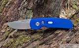 ProTech Calmigo - Blue Anodized Aluminum Handle - Stonewash 154CM Blade