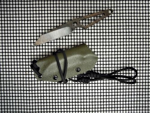 MEDFORD THORN NECK KNIFE OD GREEN KYDEX SHEATH