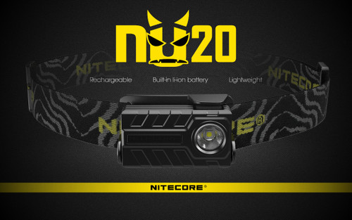 NITECORE 360 LUMEN  RECHARGEABLE NU20 RED HEADLAMP