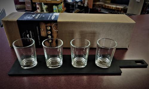 EPICUREAN FLIGHT SERVER WITH FOUR 4OZ. GLASSES