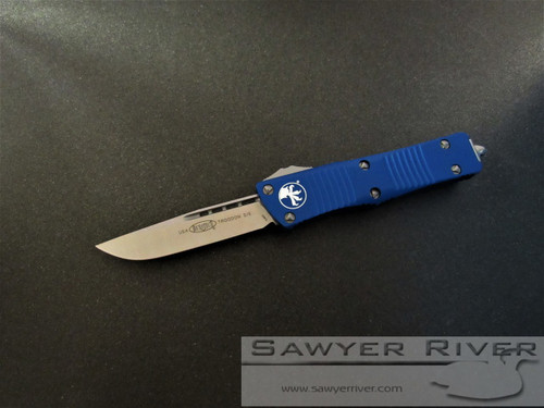 MICROTECH TROODON WITH BLUE HANDLE