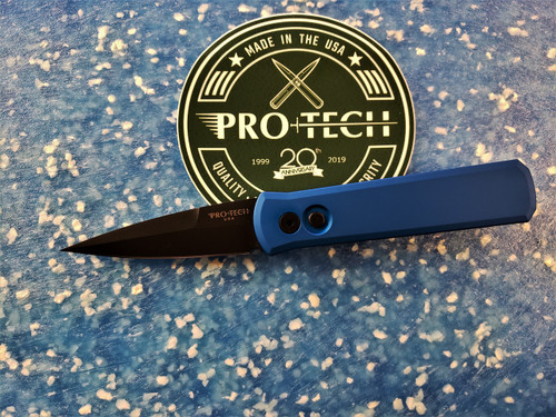 PRO-TECH KNIVES GODSON WITH BLUE HANDLE