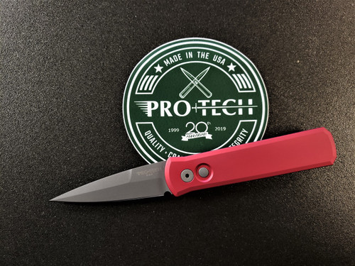 PRO-TECH KNIVES GODSON WITH RED HANDLE