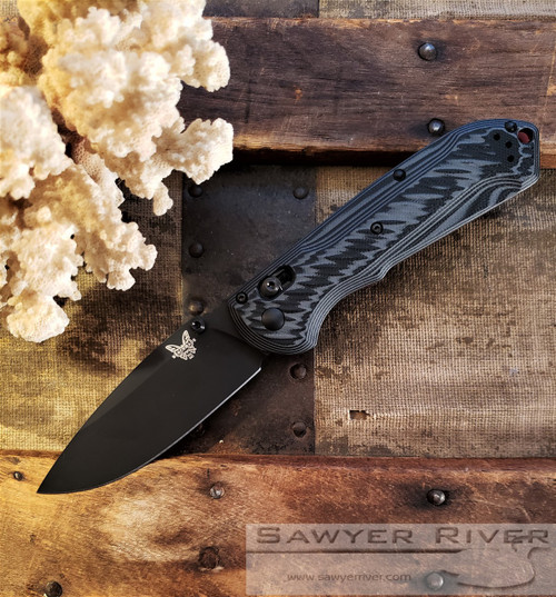 BENCHMADE FREEK BLACK AND GREY G-10