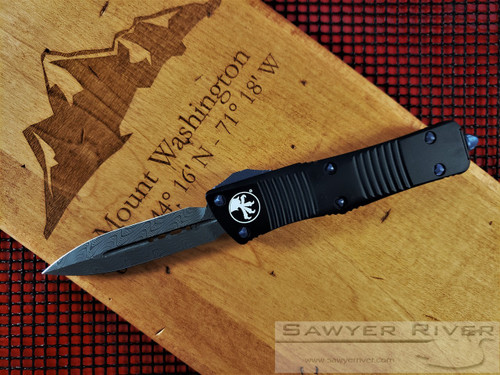 MICROTECH SIGNATURE SERIES DAMASCUS TROODON