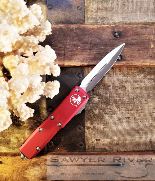 MICROTECH UTX-85 D/E RED HANDLE