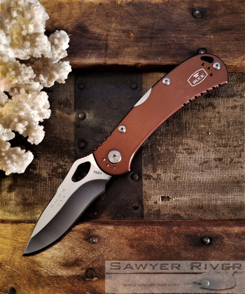 BUCK SPITFIRE WITH BROWN HANDLES