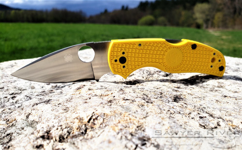 SPYDERCO NATIVE 5 SALT FRN YELLOW