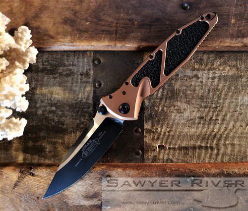 MICROTECH SOCOM ELITE TAN HANDLE BLACK BLADE