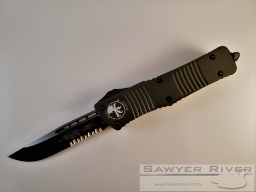 MICROTECH COMBAT TROODON OD GREEN WITH BLACK BLADE
