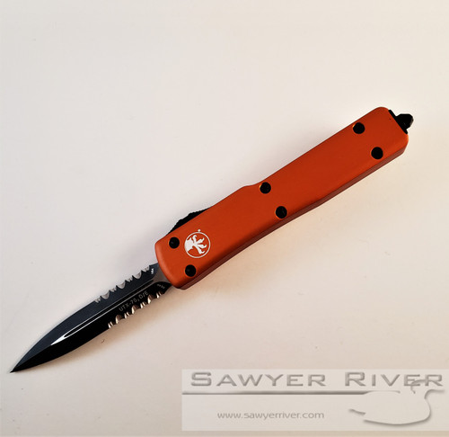 MICROTECH UTX-70 BLACK P/S BLADE ORANGE HANDLE