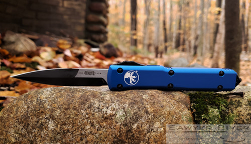 MICROTECH ULTRATECH BAYONET 2 TONE WITH BLUE HANDLE