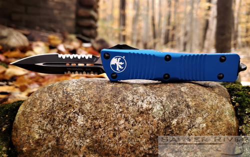 MICROTECH TROODON DE PS BLUE HANDLE