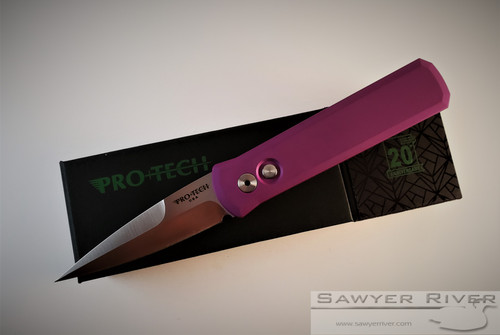 PRO-TECH KNIVES GODSON WITH PURPLE HANDLE