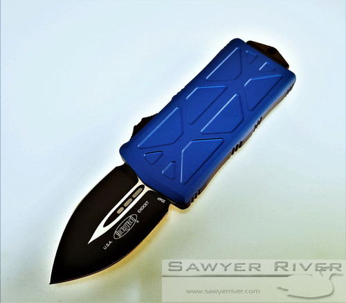 MICROTECH BLUE EXOCET BLACK BLADE D/E MONEY CLIP