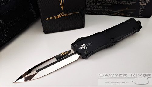 MARFIONE CUSTOM COMBAT TROODON MIRROR POLISHED BLADE WITH CARBON FIBER INLAY