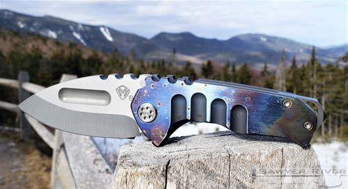 MEDFORD PRAETORIAN GENESIS Ti FACED CHIMERA BLUE HANDLE ANO BLUE SPRING SIDE