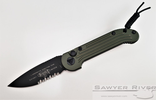 MICROTECH L.U.D.T. WITH OD GREEN HANDLE AND BLACK PS BLADE